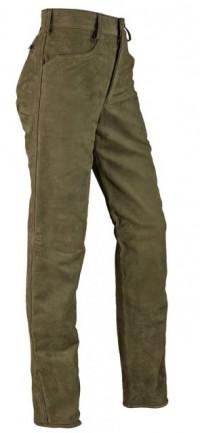 3187a87a6c93 Dámské kožené kalhoty Hubertus olivováovo - hnědá   38